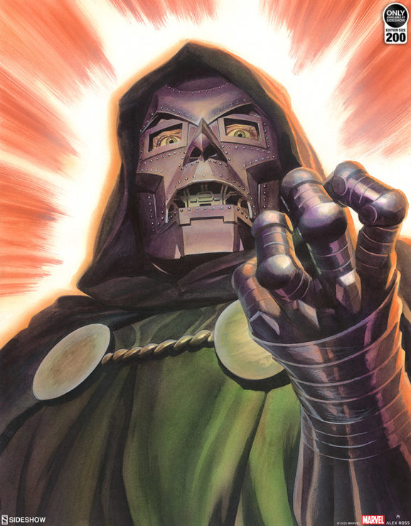 The Doctor Doom Fine Art Lithograph by Alex Ross
