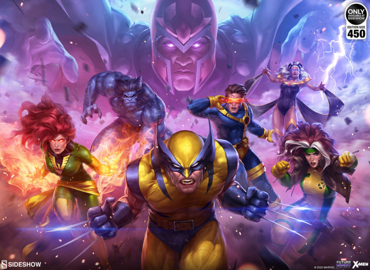 The MARVEL Future Fight: X-Men Fine Art Print by Artist Jeehyung Lee