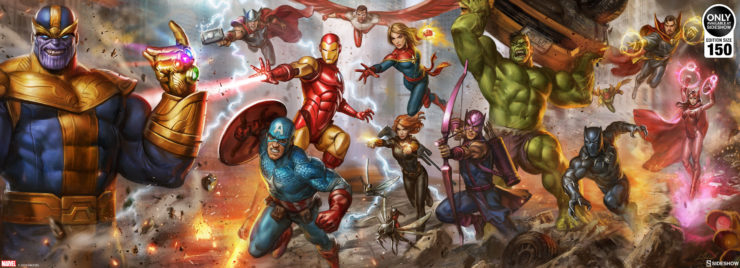 The Avengers: Earth's Mightiest Heroes Deluxe Fine Art Print