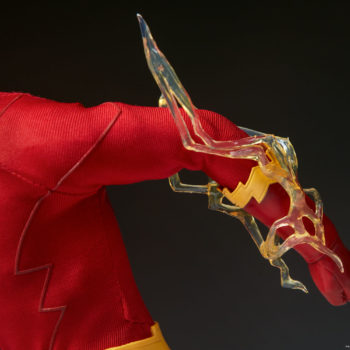 The Flash Sixth Scale Figure close up on lightning on left arm