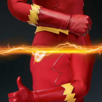 The Flash Sixth Scale Figure close up on hands