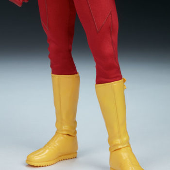 The Flash Sixth Scale Figure close up on boots