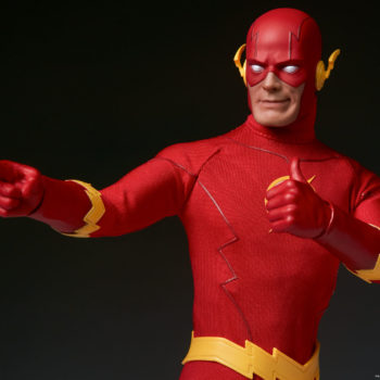 The Flash Sixth Scale Figure exclusive pointing to the left