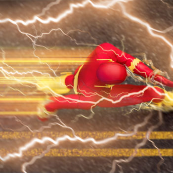 The Flash Sixth Scale Figure running