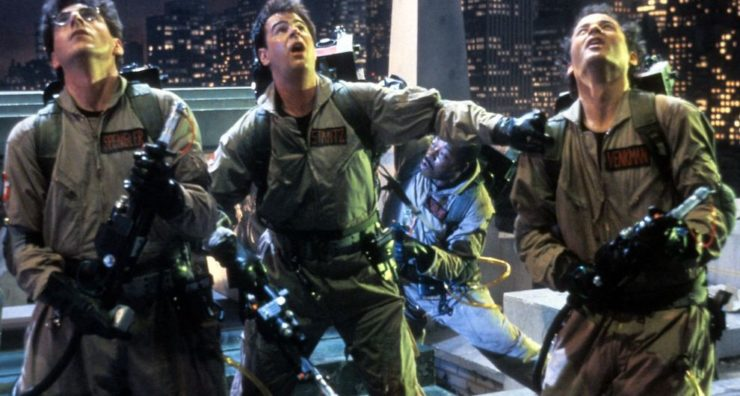 Egon Spengler, Ray Stanz, and Peter Venkman in Ghostbusters