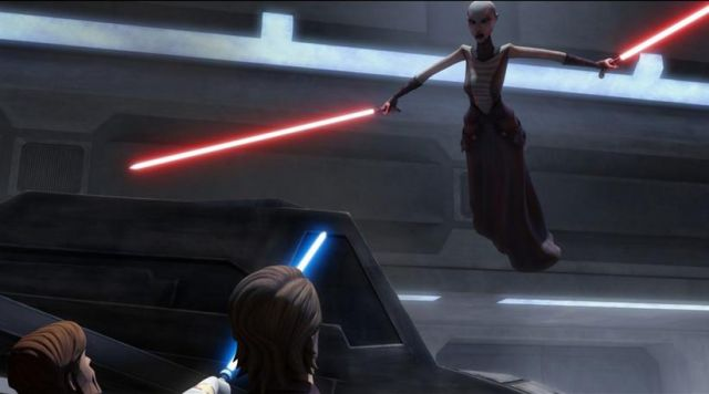 Asajj Ventress in Clone Wars