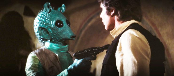 Greedo Threatening Han Solo