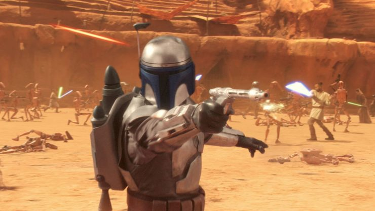 Jango Fett in the Battle of Geonosis