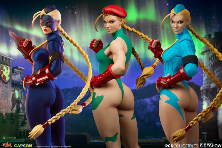 Cammy Goes Killer Bee, Classic, and Decapre in Cammy: Evolution 1:3 Scale Statue Set by PCS Collectibles
