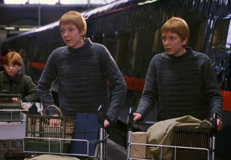 Fred and George at King's Cross