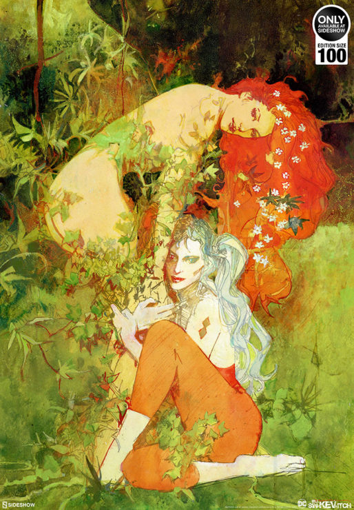 Harley and Ivy Fine Art Lithograph DC Comics Bill Sienkiewicz