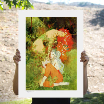 """Can we run away from all this now? Find a nice Botanical Garden, wait for the dust to settle?"" Sideshow and Bill Sienkiewicz Art present the Harley and Ivy Fine Art Lithograph."