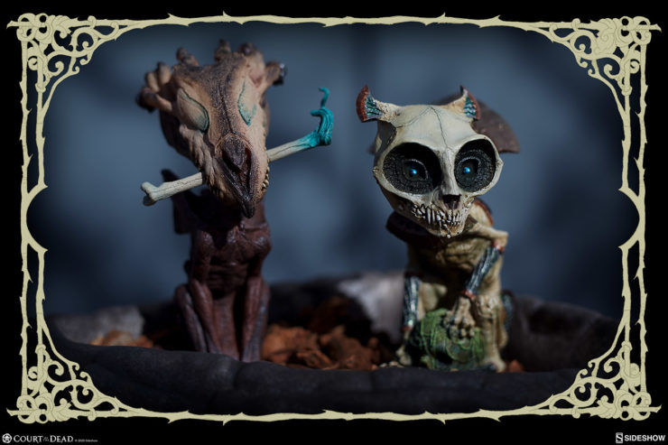 New Photos of the Court Critters: Skratch and Riazz Statuettes