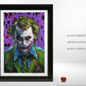 Why So Serious? XL Deluxe Diamond Dust Fine Art Print