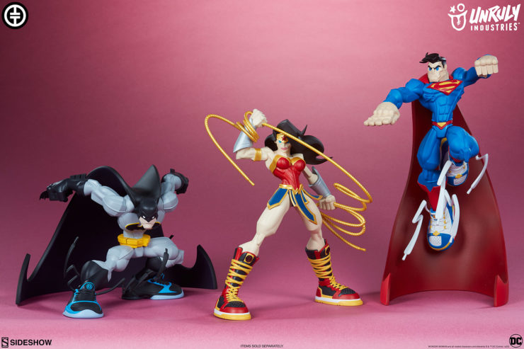 DC Trinity- Batman, Superman, Wonder Woman Get the Designer Collectible Toy Treatment from Artist Tracy Tubera