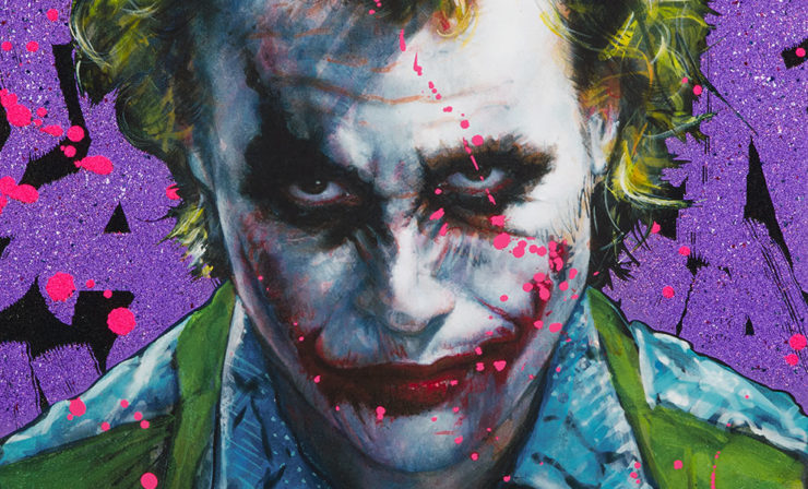 Why So Serious? XL Deluxe Diamond Dust Fine Art Print by Artist Olivia De Berardinis