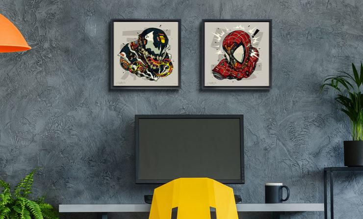 Spider-Man & Venom MECHASOUL Fine Art Prints by Artist Clogtwo