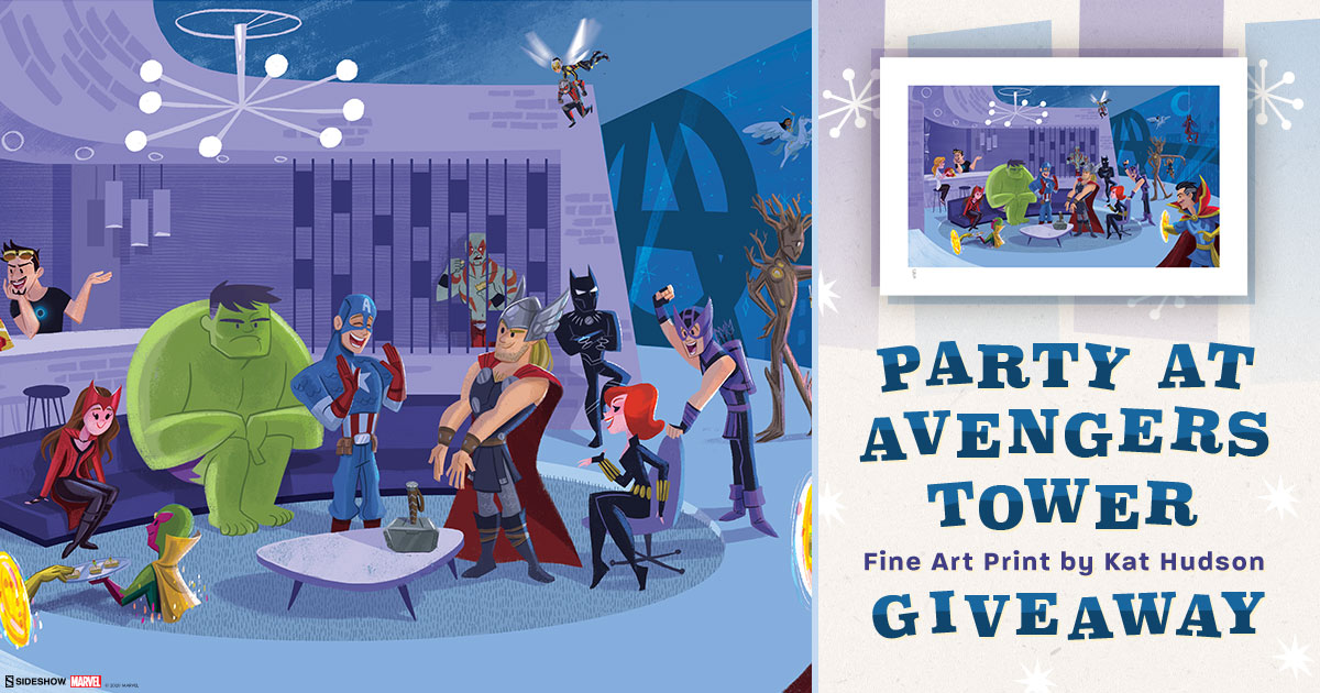 Party at Avengers Tower Fine Art Print Giveaway