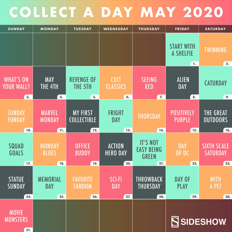 Sideshow's Collect A Day May 2020 – 31 Prizes in 31 Days!
