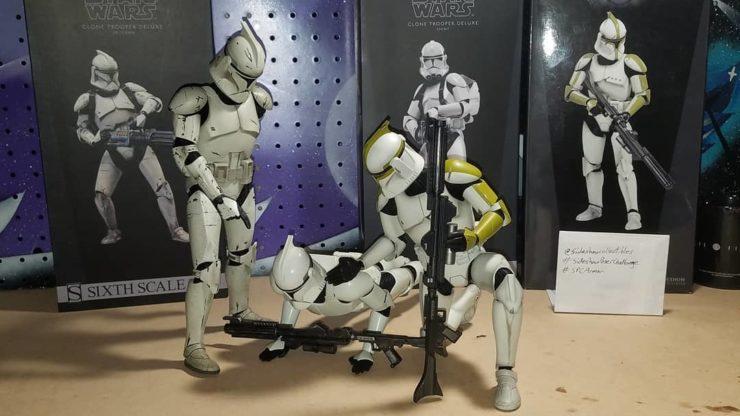 Sideshow Clone Trooper Sixth Scale Figures- Dvinny8