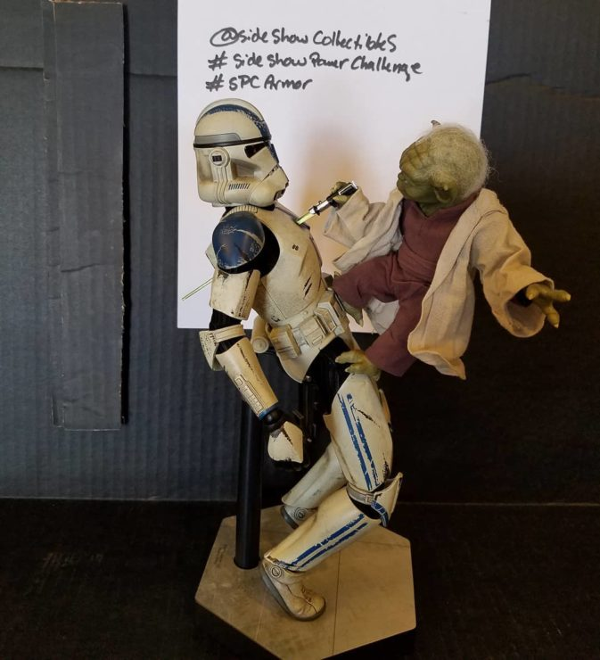 Clone Trooper and Yoda Sixth Scale Figures