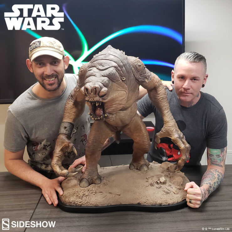 Lifelong Star Wars Fans and Sideshow Artists Matt Black and Amilcar Fong Discuss Creating the Rancor™ Deluxe Statue