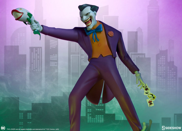 New Photos of The Joker Statue in the Animated Series Collection