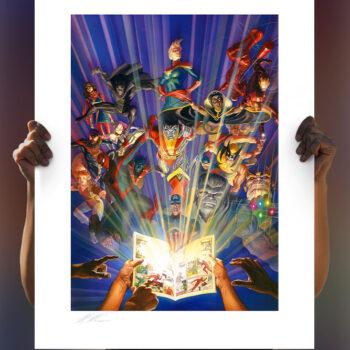 The Marvel Comics #1000 Fine Art Lithograph by Alex Ross Art