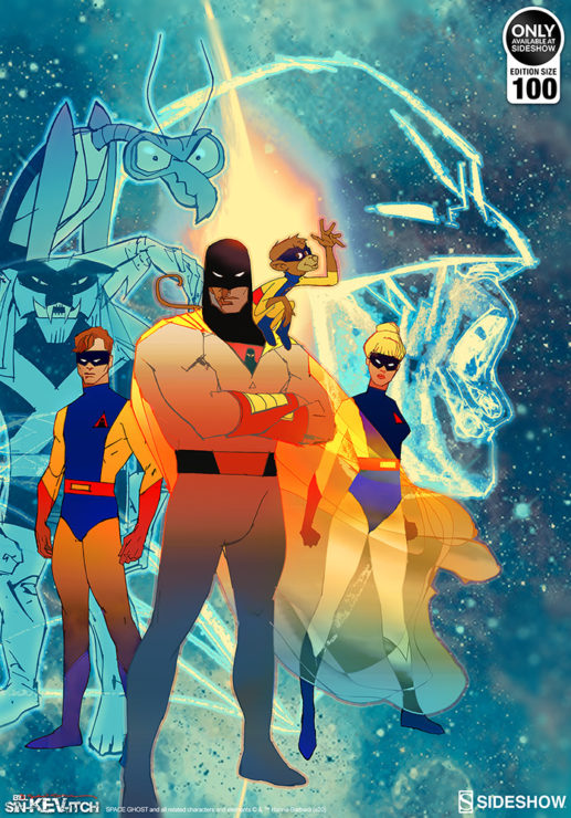 The Space Ghost: Future Quest Fine Art Lithograph by Bill Sienkiewicz Art