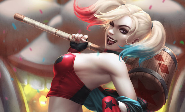 The Harley Quinn: Hell on Wheels Fine Art Print by Artist Kendrick Lim (Kunkka)