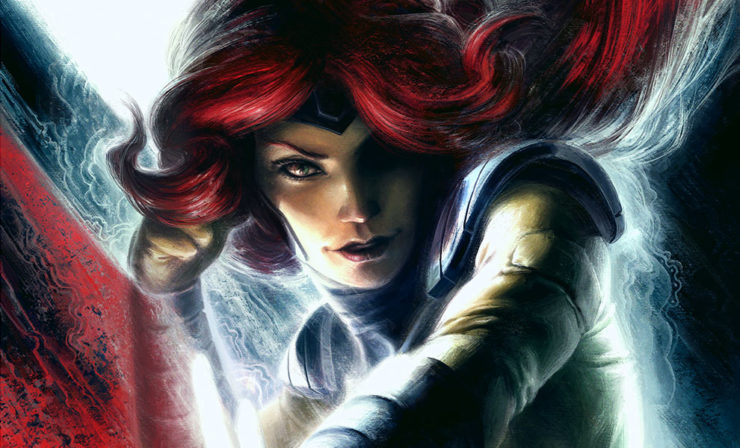 The Jean Grey Fine Art Print by Fabian Schlaga