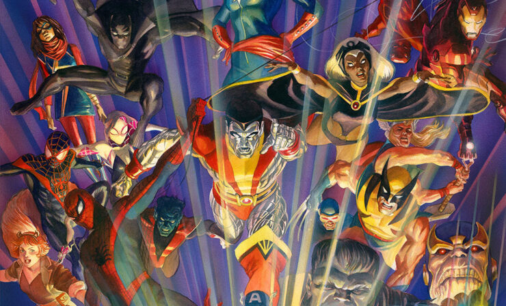 The Marvel Comics #1000 Fine Art Lithograph by Alex Ross Art