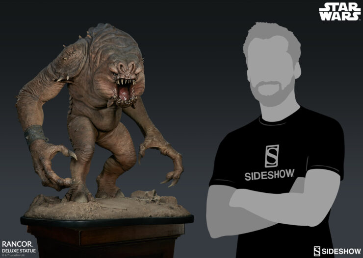 Sideshow Rancor™ Deluxe Statue with Scale Model