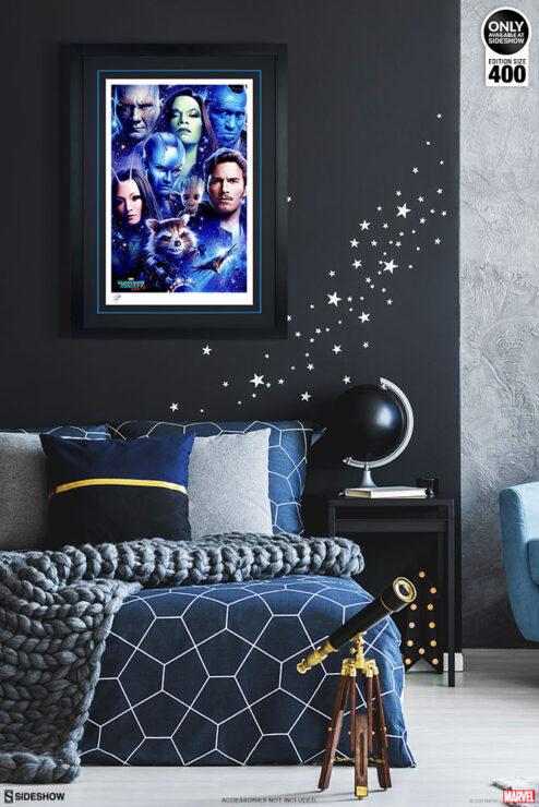 Tsuneo Sanda Guardians of the Galaxy Vol. 2 Print Black Frame Environment Display
