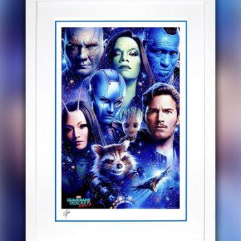 Tsuneo Sanda Guardians of the Galaxy Vol. 2 Print White Frame