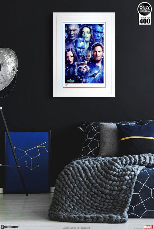 Tsuneo Sanda Guardians of the Galaxy Vol. 2 Print White Frame Environment Display