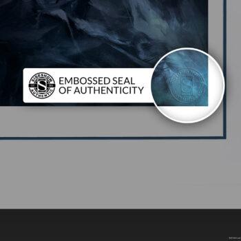 Batman: Detective Comics #1006 Fine Art Print White Frame Embossed Seal of Authenticity