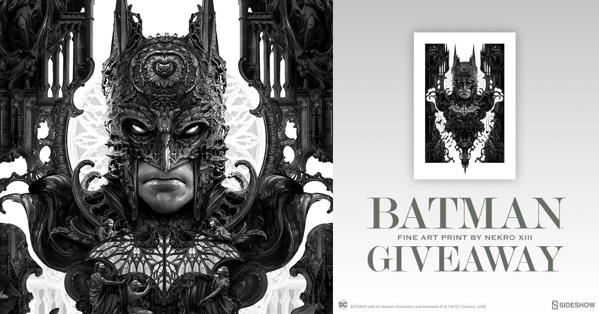 Batman Fine Art Print by Nekro XIII Giveaway