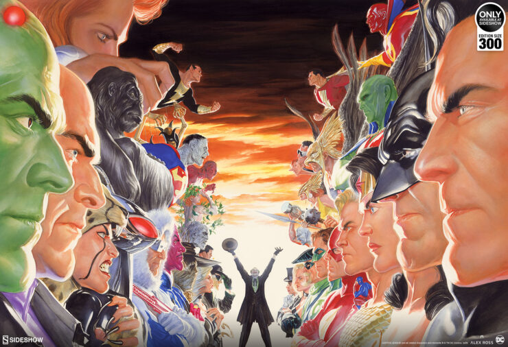 The Absolute Justice: Battle Fine Art Lithograph by Alex Ross