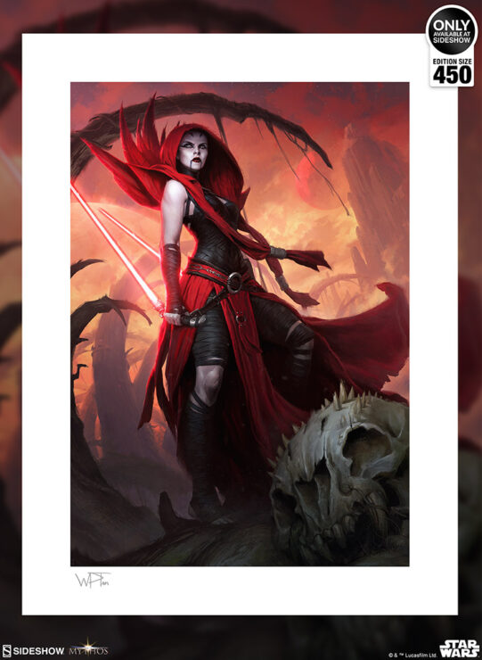 The Asajj Ventress™: Ascension Fine Art Print by Artist Darren Tan
