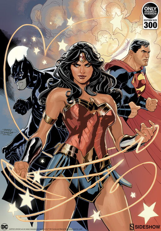 The Justice League Fine Art Print by Artists Terry and Rachel Dodson