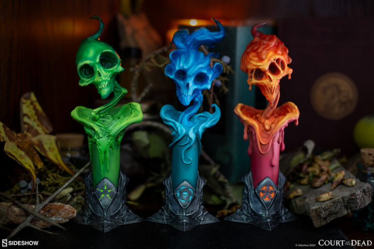 The Lighter Side of Darkness: Faction Candle Statue Set from Court of the Dead