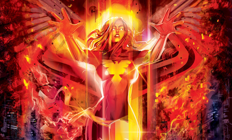 The Dark Phoenix Fine Art Print by Artist Orlando Arocena