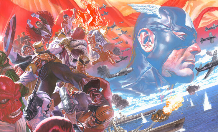The Captain America: Winter in America Fine Art Lithograph by Alex Ross Art