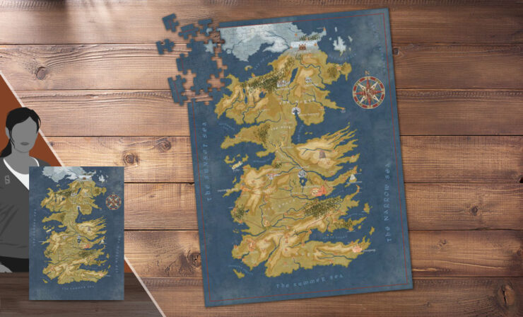 Game of Thrones- Westeros Map Puzzle