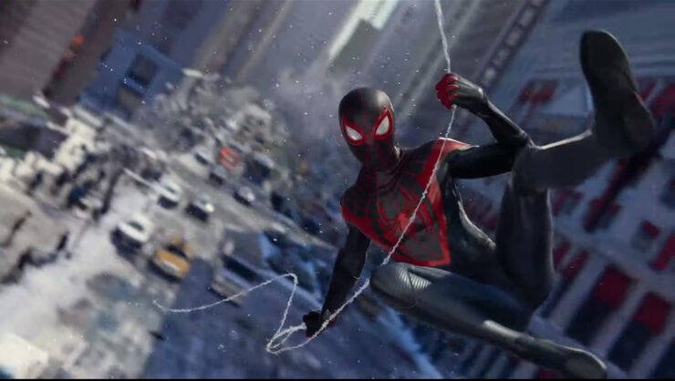 Marvel's Spider-Man: Miles Morales Swinging Through City