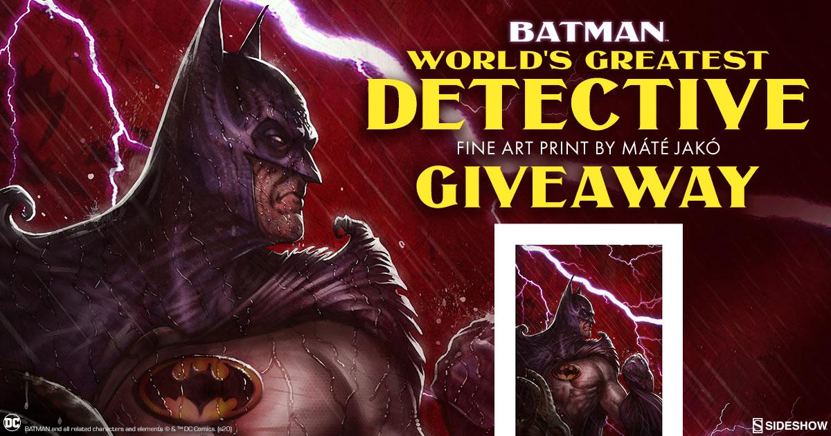 Batman: World's Greatest Detective Fine Art Print Giveaway