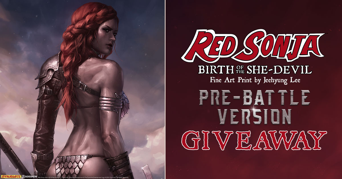 Red Sonja: Birth of the She-Devil Pre-Battle Version Fine Art Print Giveaway