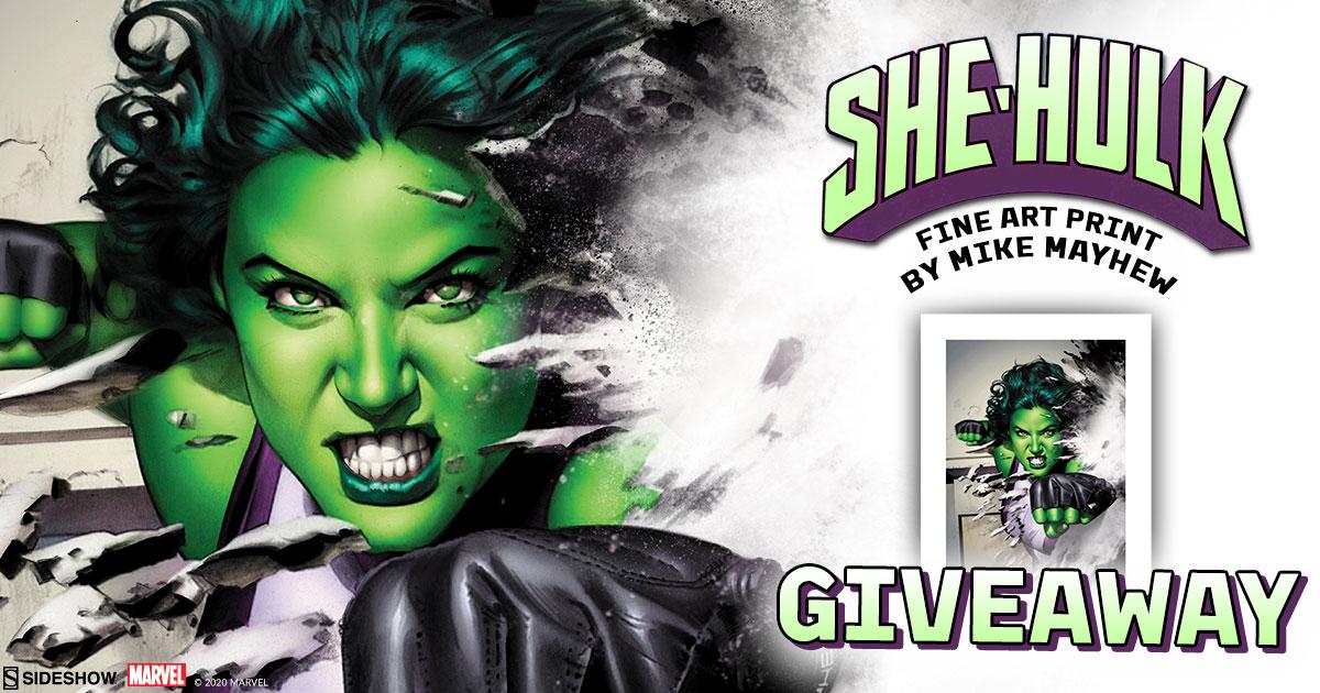 She-Hulk Fine Art Print Giveaway