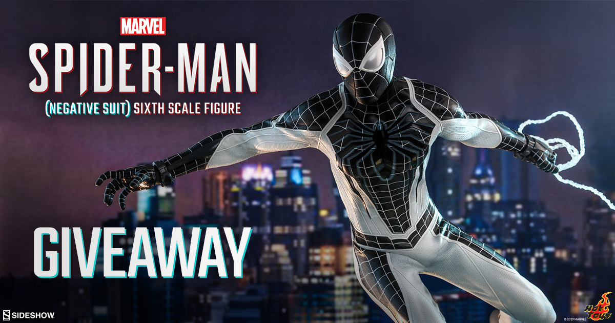 Marvel's Spider-Man (Negative Suit) Sixth Scale Figure Newsletter Giveaway